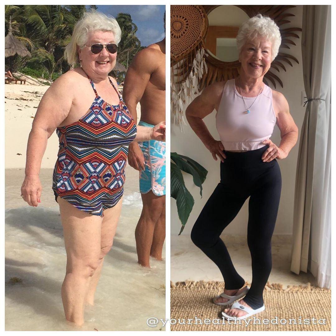 婆婆坦言在過程中曾想過放棄,惟見到自己的健身成果後,正能提醒她跨越了多少難關。圖...