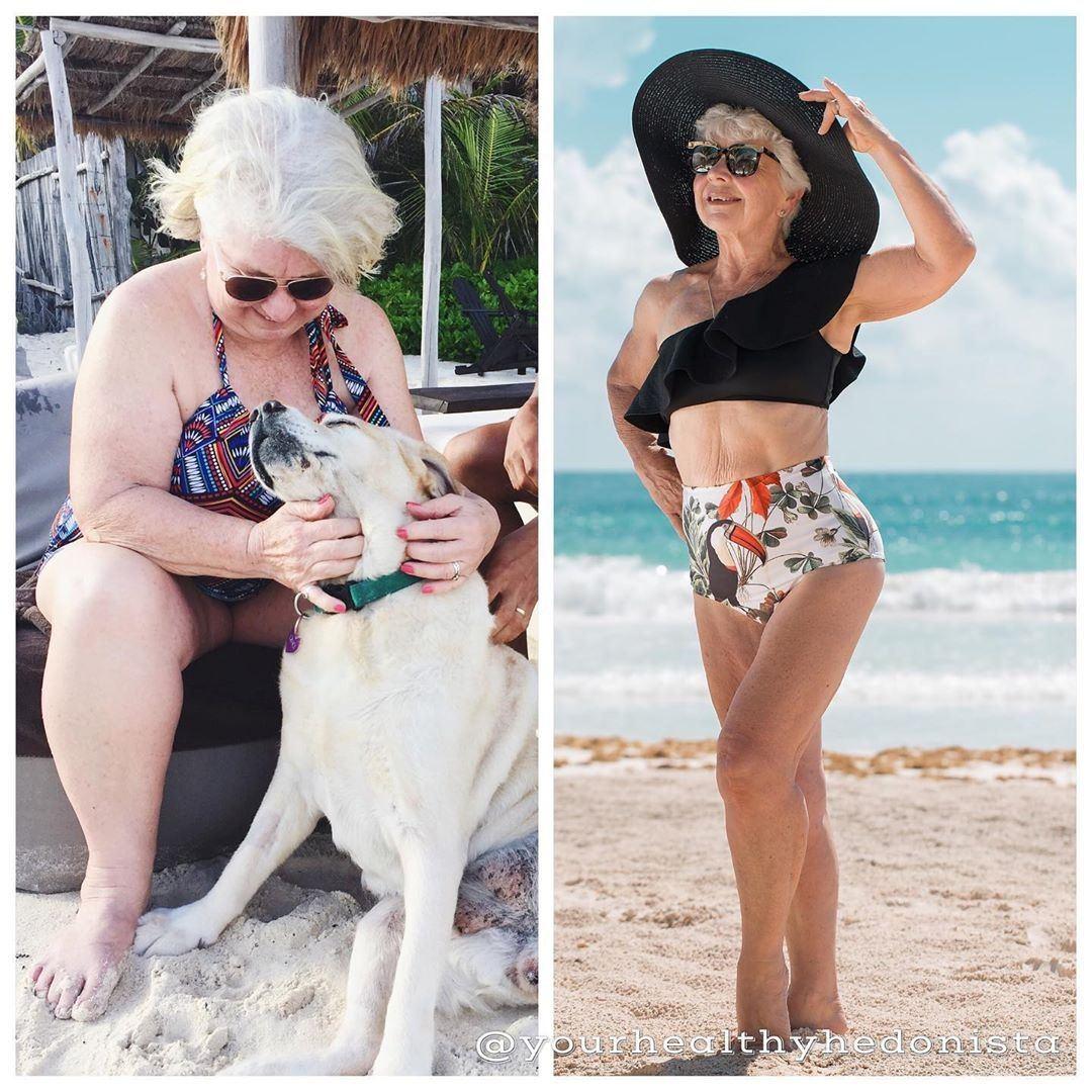 婆婆Joan MacDonald由原本體重達200磅,經2年堅持健身後喪減59磅...