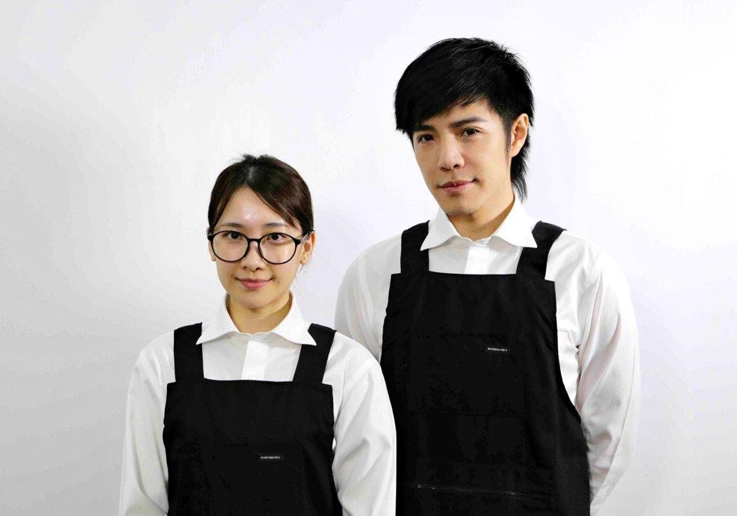 童立安(右)邀來陳予新擔任新歌「The One」MV女主角。圖/杰思國際娛樂提供