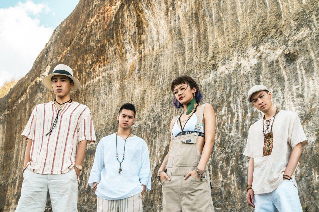 「Ching G Squad」成員婁峻碩(左起)、高爾宣、芮德和唐仲彣。圖/華風