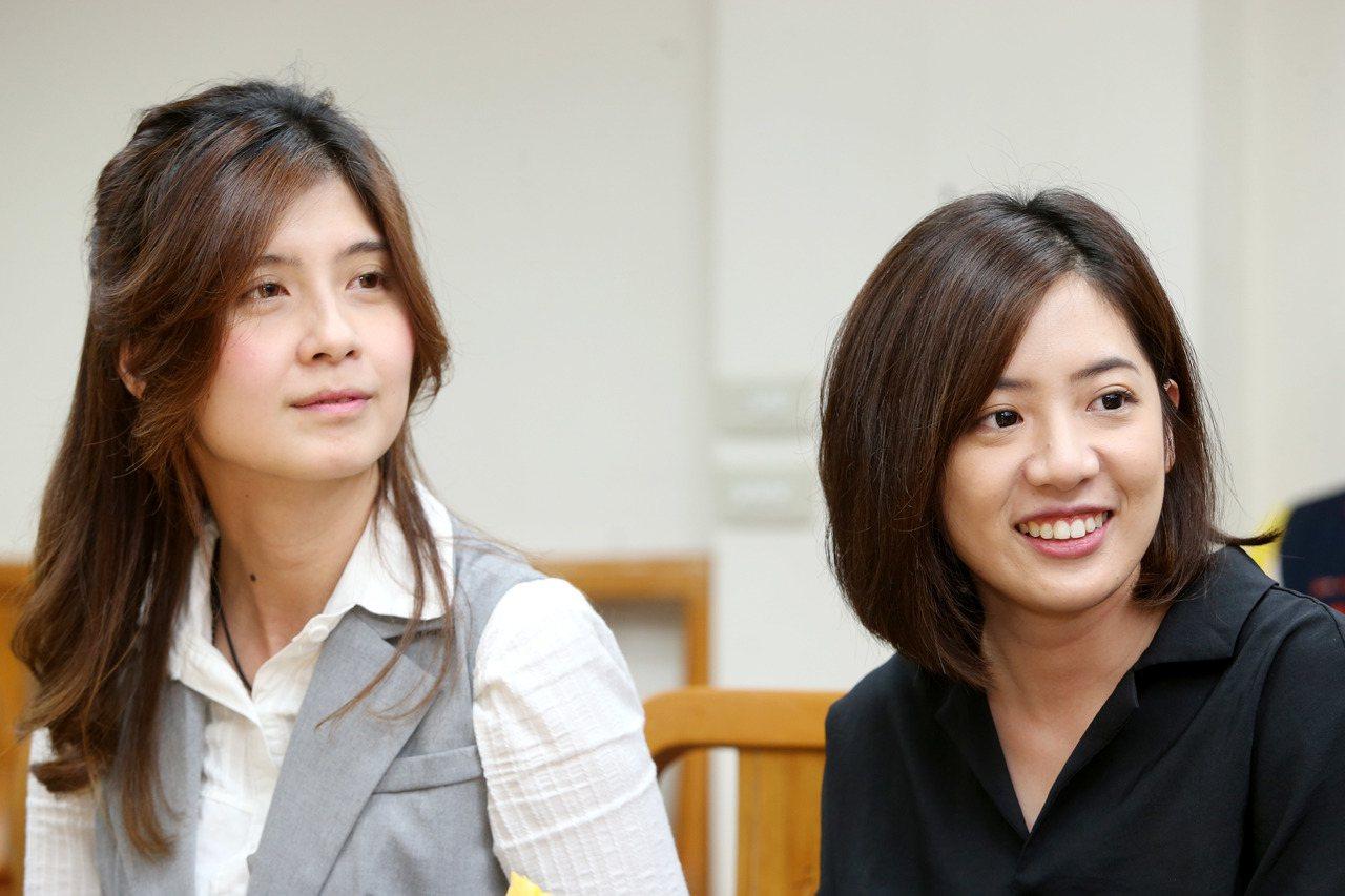 社會局機要蔡宜芳(左)將請辭參選立委。本報系資料照片