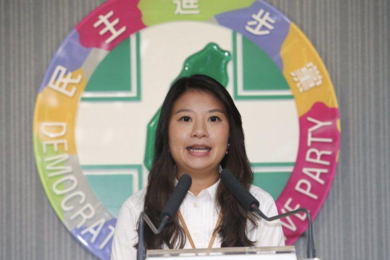 民進黨發言人薛呈懿。圖/聯合報系資料照片
