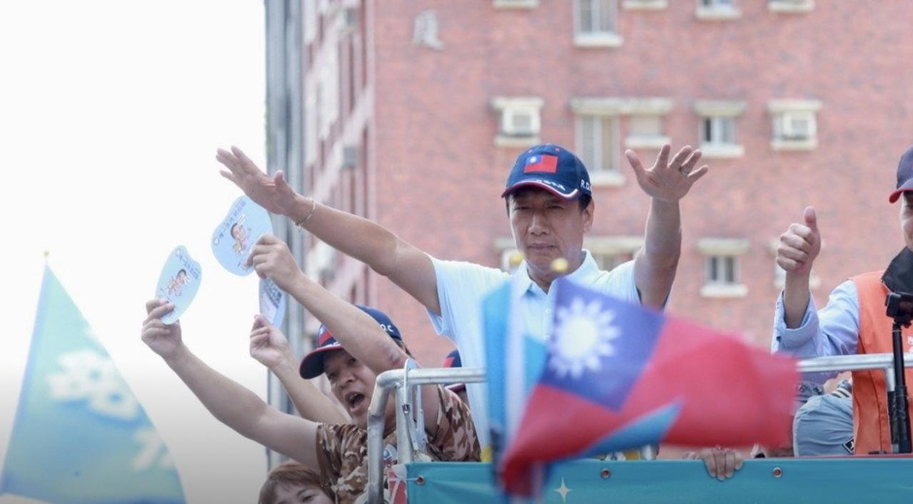 郭台銘今天透過幕僚宣布退出國民黨。圖/報系資料照