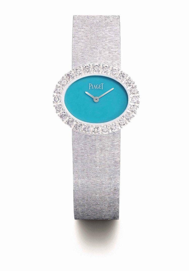 PIAGET Extremely Lady系列綠松石表盤18K白金鑽表,210萬...
