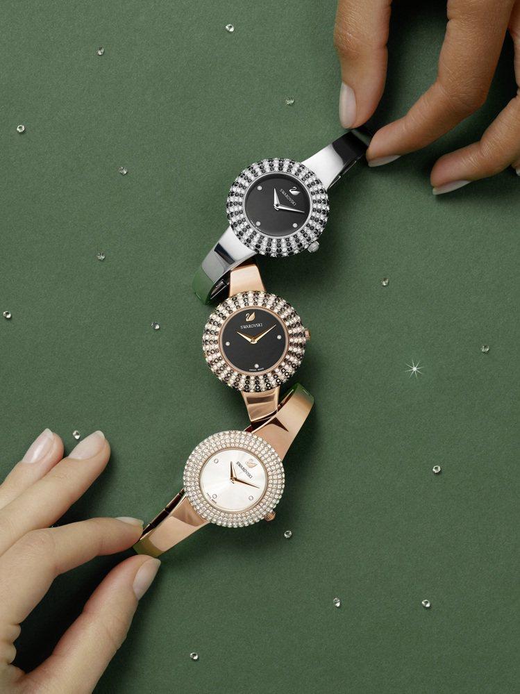 SWAROVSKI 2019秋冬手表系列,展現妳的時間魅力。圖/Swarovsk...