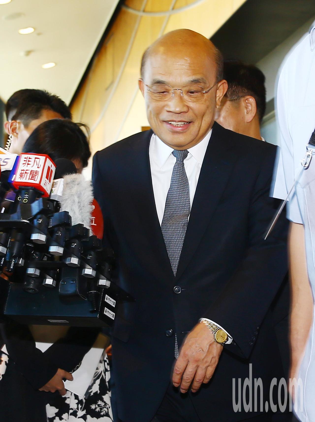 郭台銘上午宣布退出國民黨,蘇貞昌(圖)下午被記者問到此事的反應,酸到爆表回應媒體...