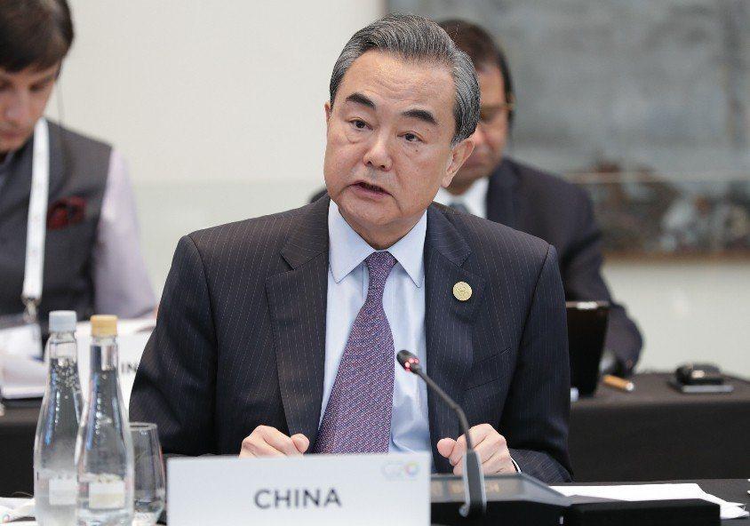 大陸外交部長王毅。圖/新華社資料照片