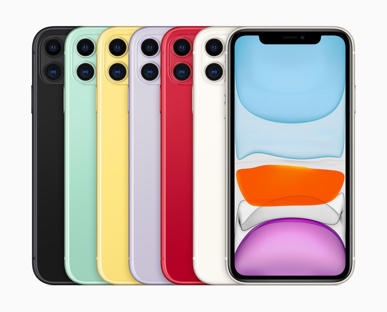 iPhone 11推出繽紛6色供消費者選擇,將於9月20日正式開賣。圖/蘋果提供