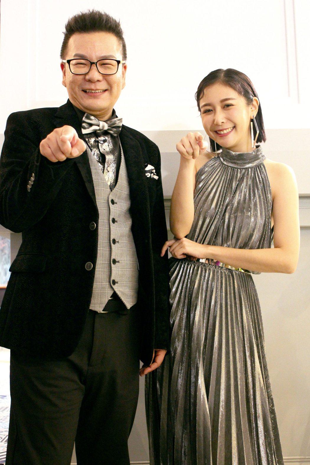 沈玉琳(左)和Albee主持緯來「歡迎光琳」。圖/緯來提供
