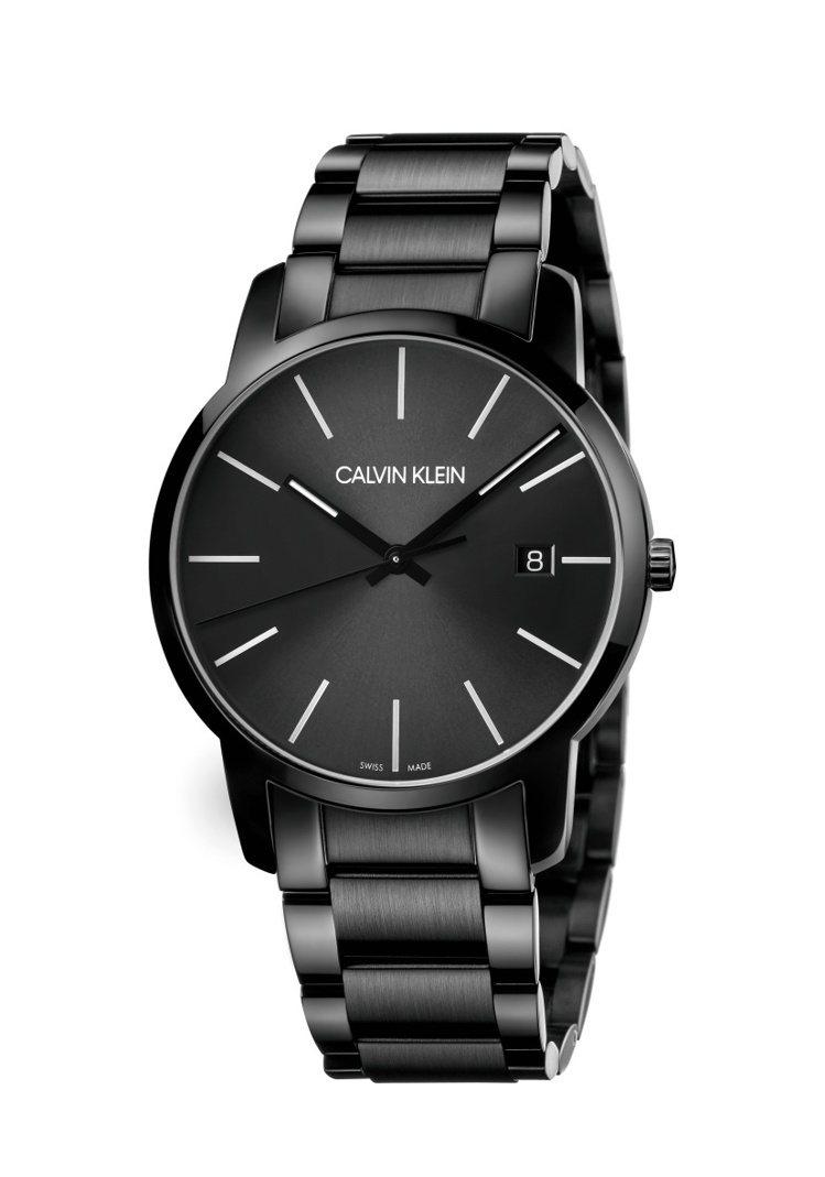 CK city系列個性腕表,黑色PVD不鏽鋼表殼、表鍊,約10,100元。圖/C...