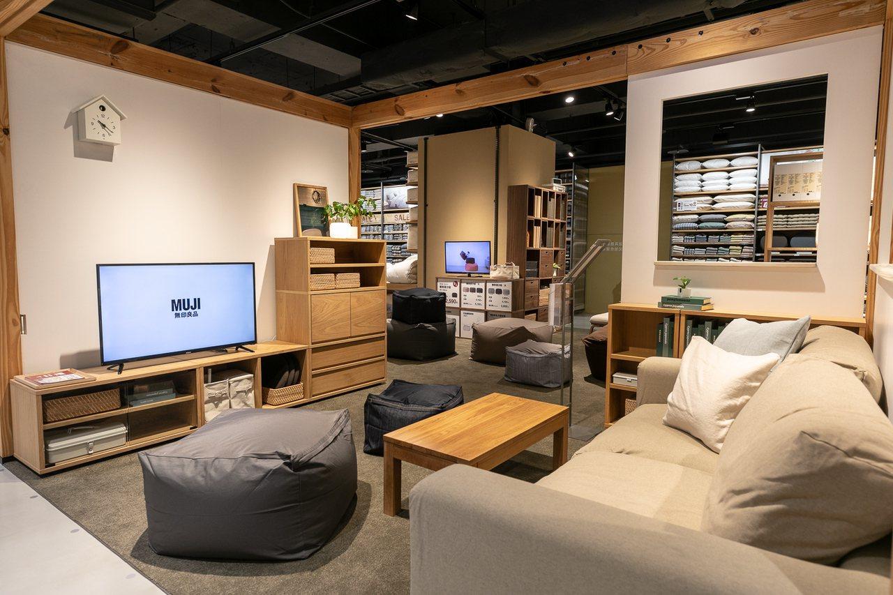 MUJI無印良品髙島屋門市將空間從200坪擴增至300坪,強化家具展示區域。圖/...
