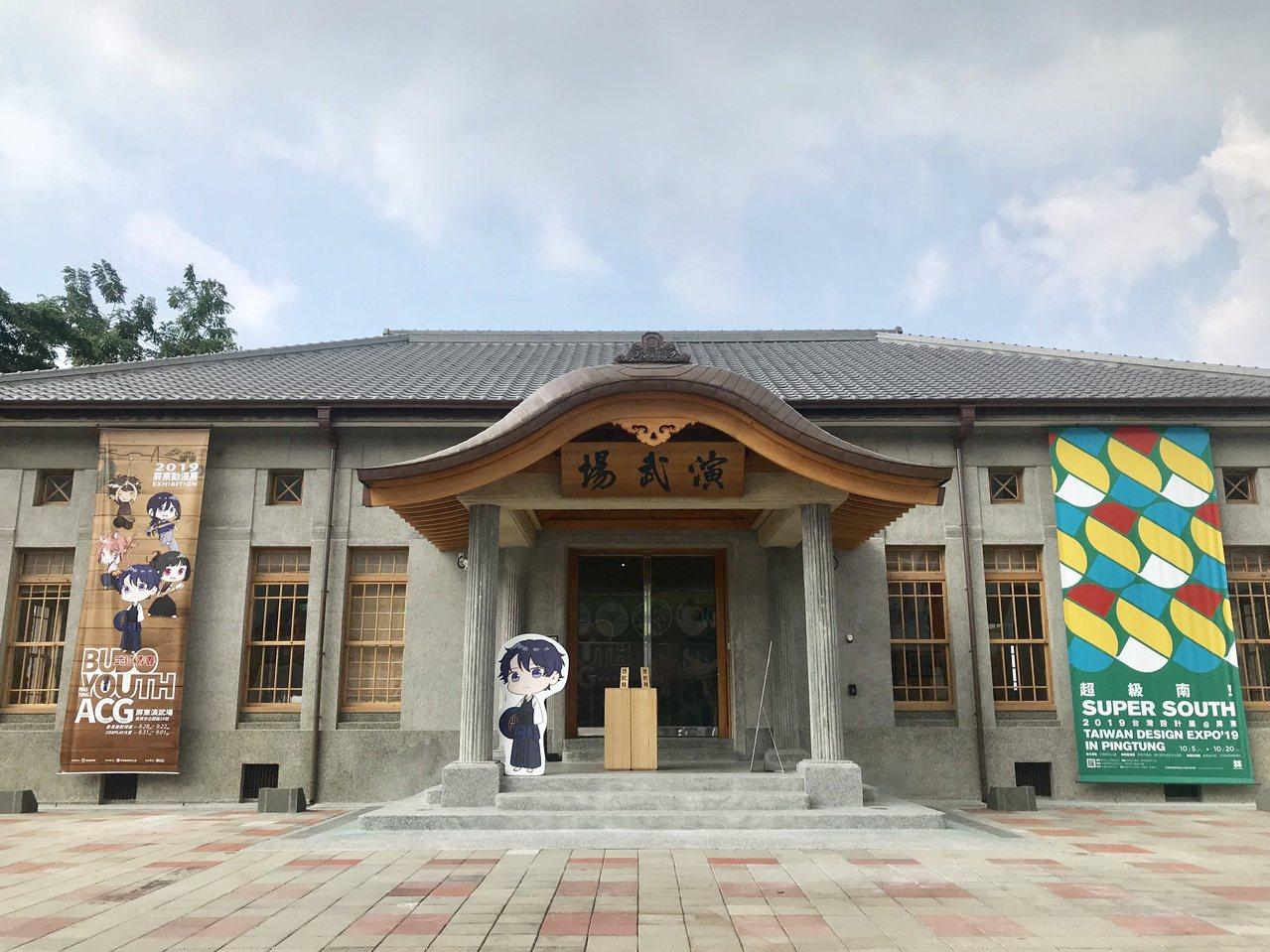屏東武德殿整修完成後,日式「唐破風」屋頂重現,氣勢十足。記者江國豪/攝影