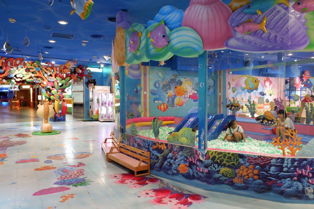 京華城兒童業種業績占比達3成,可以說是最能吸客的招牌。記者江佩君/攝影