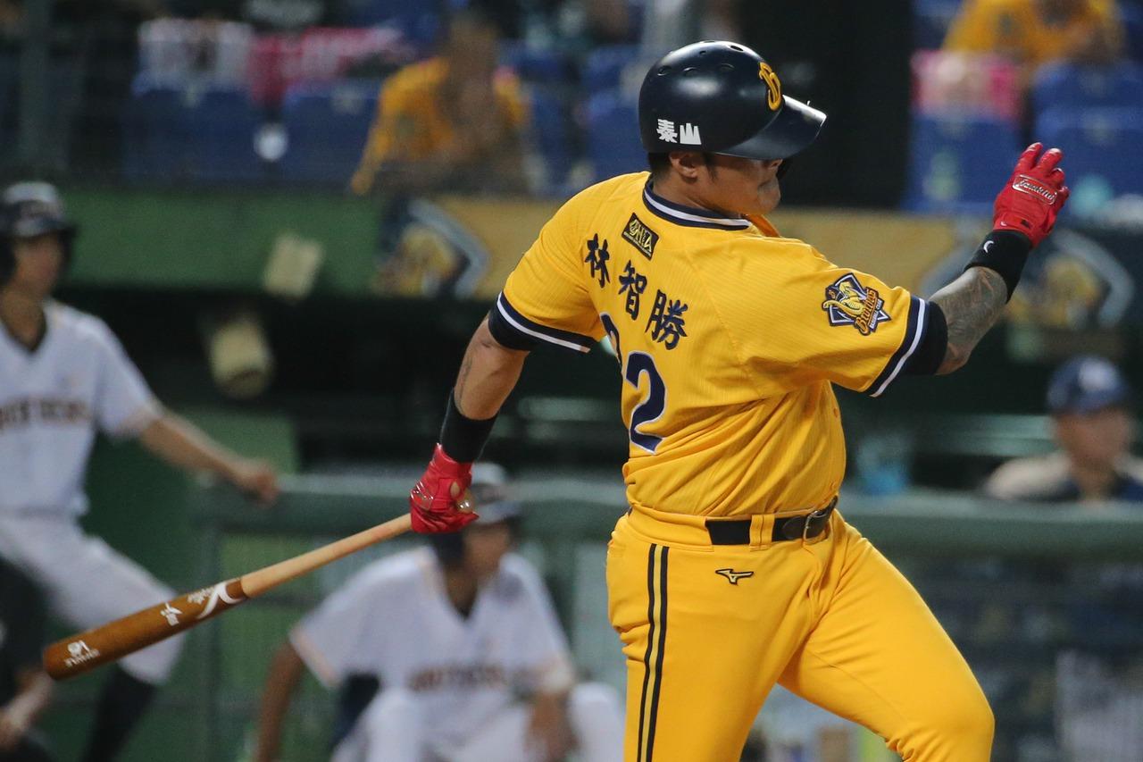 林智勝本季第25支全壘打出爐,也是生涯第282轟紀錄。 聯合報系資料照