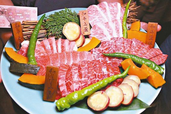 蘭亭燒肉使用日本A5黑毛和牛,配上澳洲Blackmore全血和牛擔任燒烤主角。 ...
