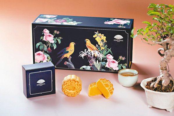 閃耀星光的雅閣經典奶黃月餅。 圖/台北文華東方酒店提供