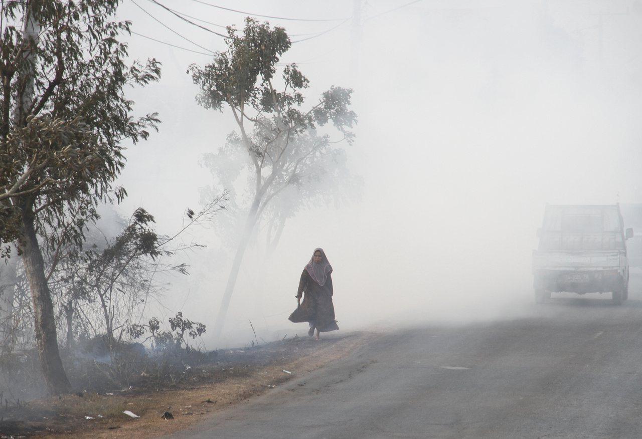 印尼森林火災激增。 路透社