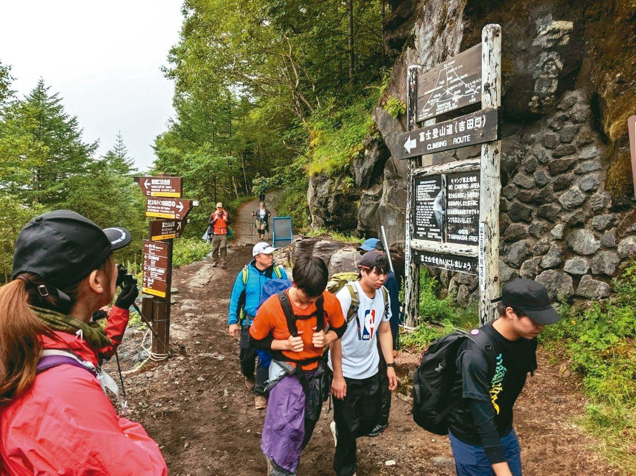富士山吉田口的五合目登山口。 記者楊德宜/攝影