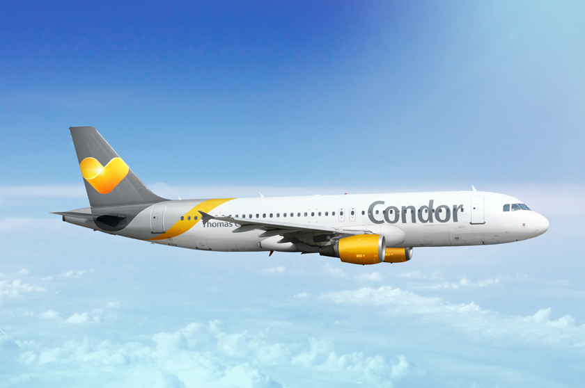 Condor航空一名機師不慎打翻咖啡導致航班轉降。圖中客機非事件飛機。取自Con...
