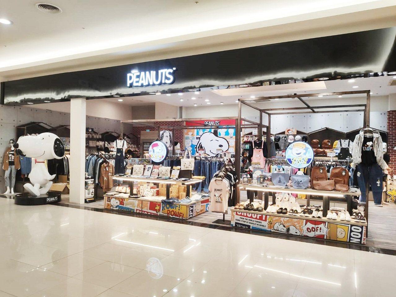 「PEANUTS」新北市首店進駐中和Global Mall二樓。圖/Global...