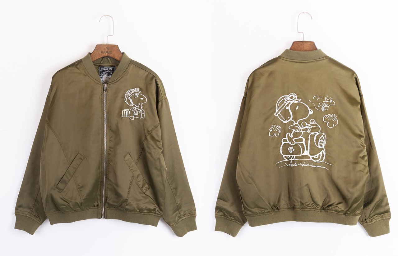 史努比復古機車緞面夾克原價3,580元,優惠價2,580元。圖/Global M...
