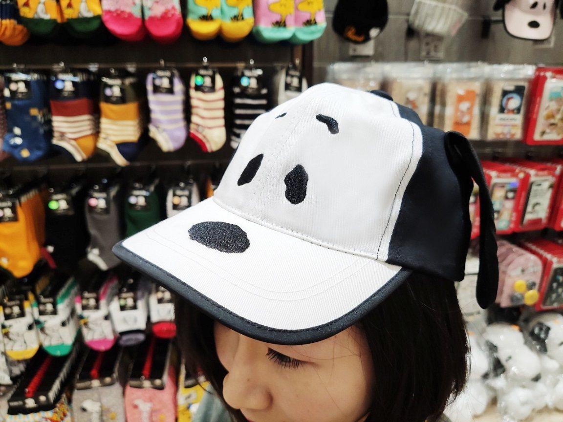「史努比大臉老帽」885元。圖/Global Mall提供