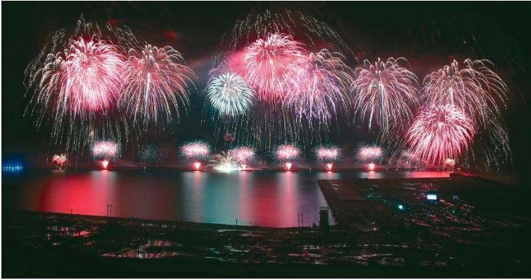 去年國慶焰火在花蓮施放。圖/本報資料照片