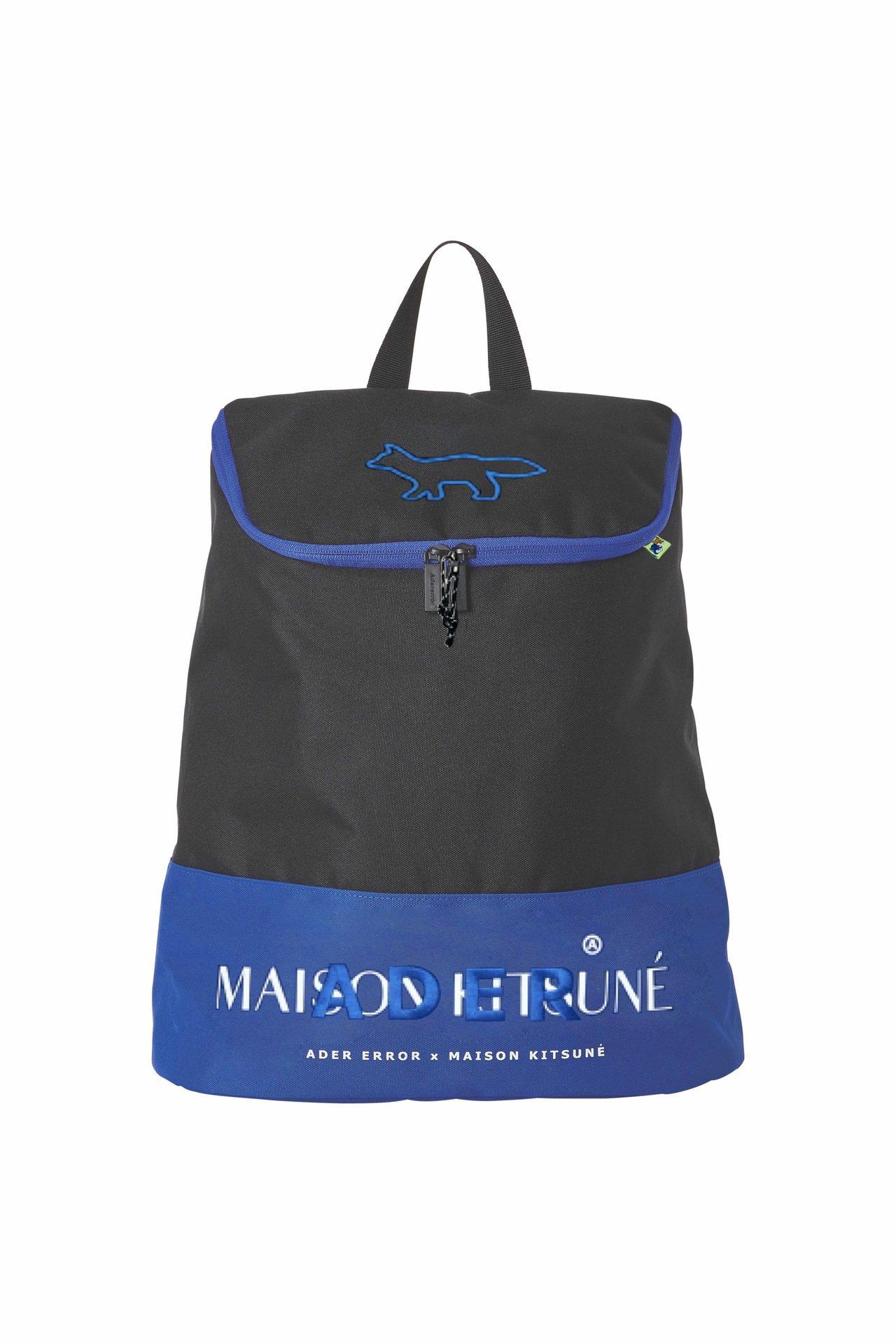 ADER x MAISON KITSUNÉ拉鍊後背包,售價9,980元。圖/AR...