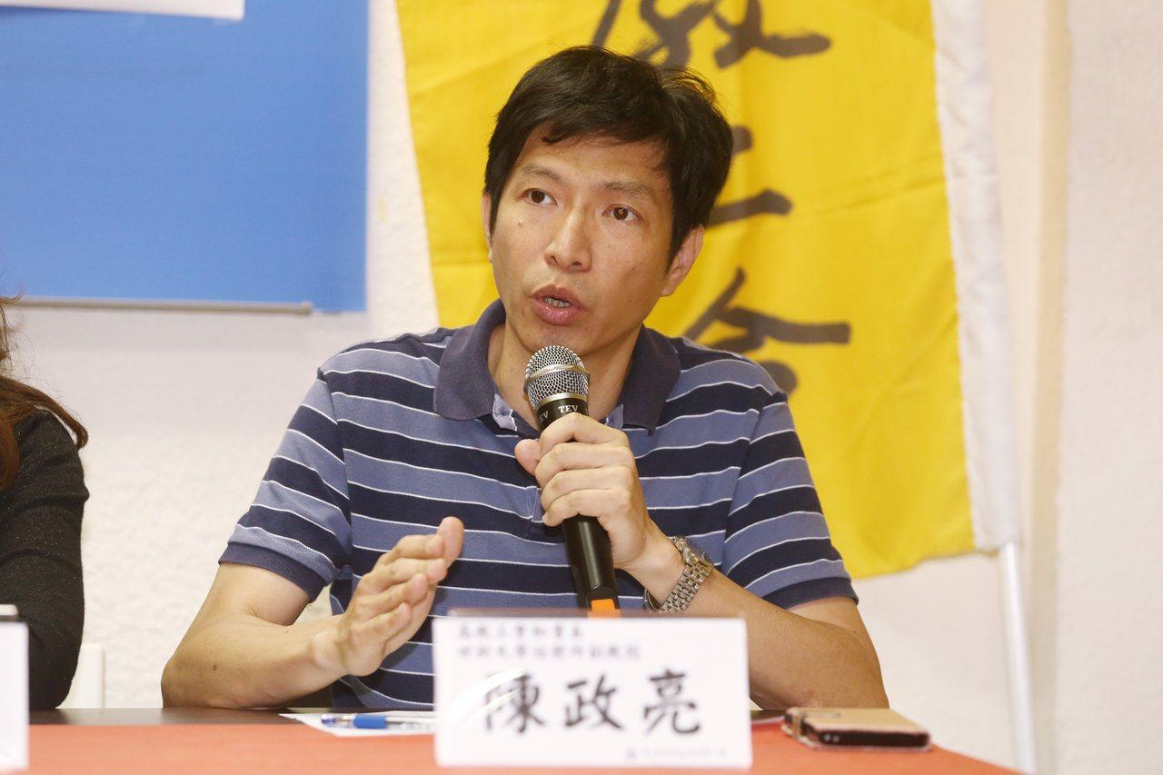 高教工會秘書長陳政亮。 記者曾原信/攝影