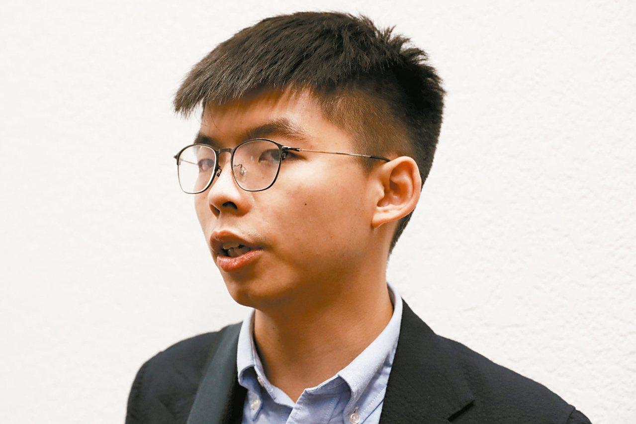 香港眾志秘書長黃之鋒。 路透