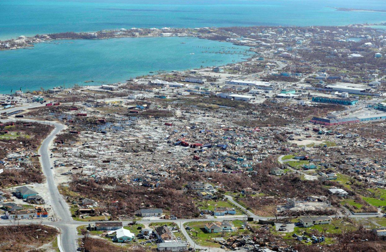 巴哈馬日前遭「多利安」颶風侵襲,災情慘重。 美聯社