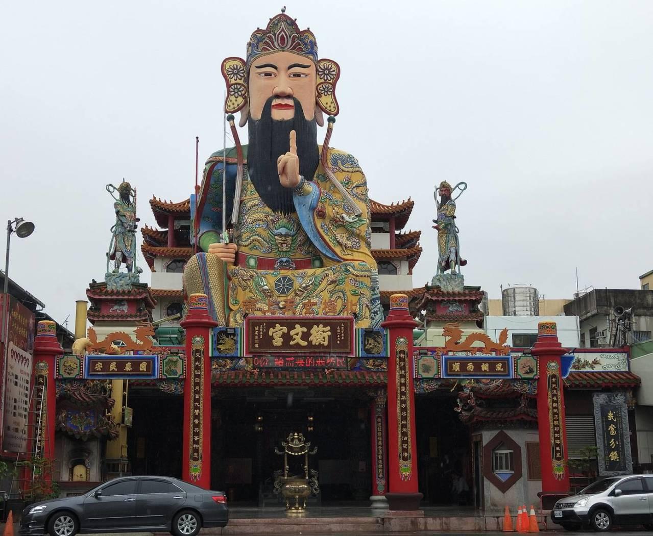 員林衡文宮的玄天上帝神像高72尺,是全台最大尊帝爺。記者何烱榮/攝影