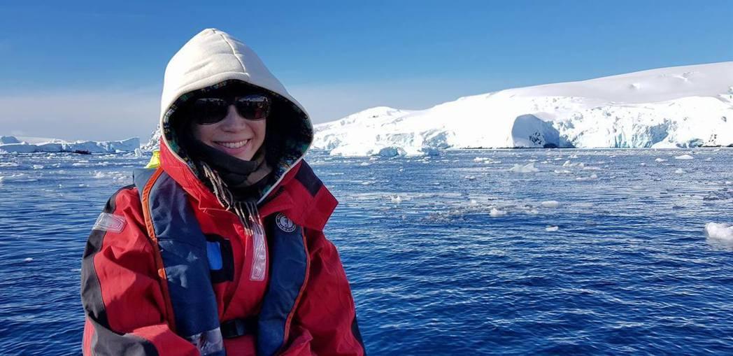 白心儀遠赴南極拍企鵝。圖/白心儀提供