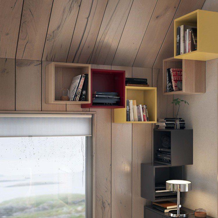 IKEA EKET上牆式收納櫃可以組合出無限可能,就連畸零空間也能發揮收納功能。...