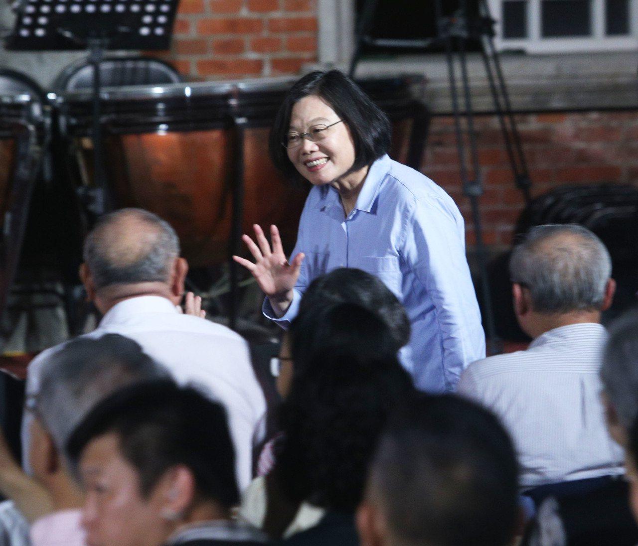 蔡英文總統出席黃家古厝音樂會。記者劉學聖/攝影