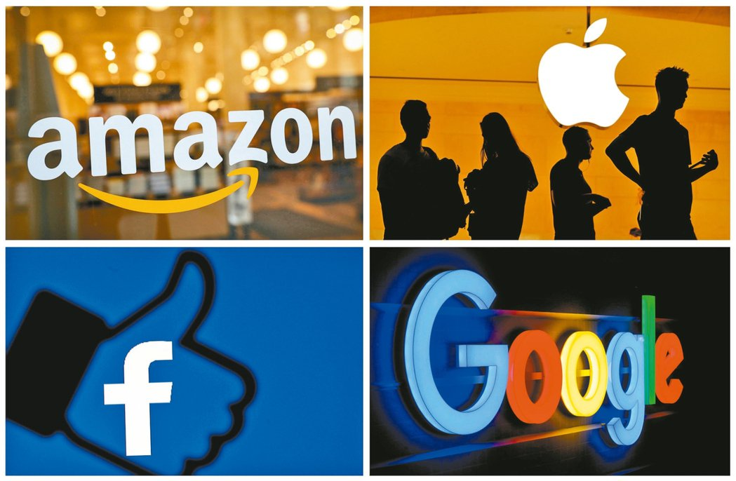 臉書、亞馬遜、蘋果和字母面臨反壟斷調查。 路透