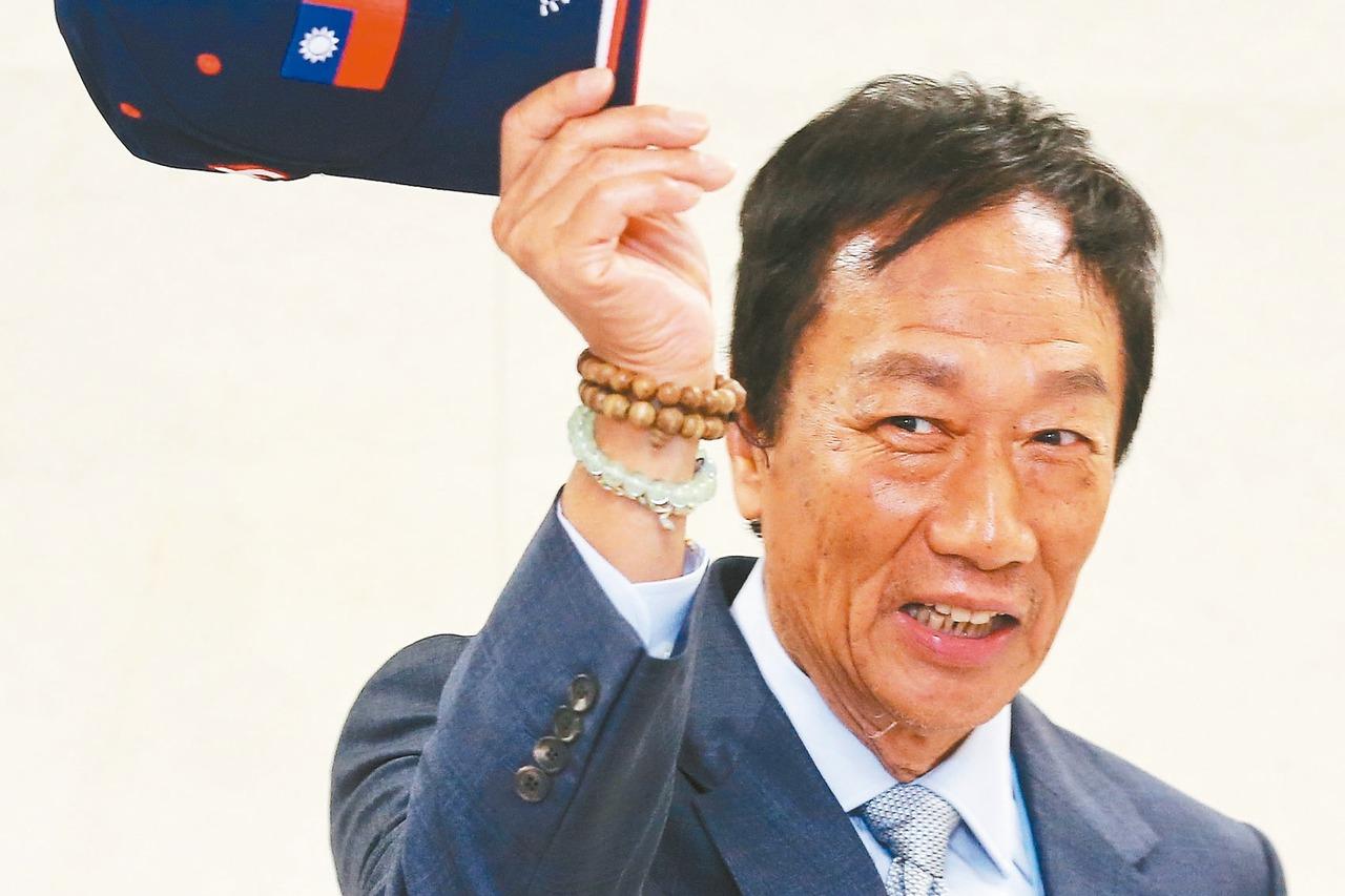 鴻海創辦人郭台銘(見圖)是否參選2020總統,最遲後天要亮出底牌,對決蔡英文總統...
