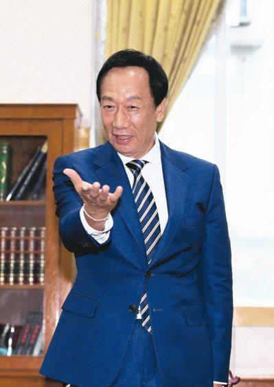對於是否參選總統,郭台銘陣營人士表示,郭還在政治與良心之間掙扎,天人交戰。 圖/...