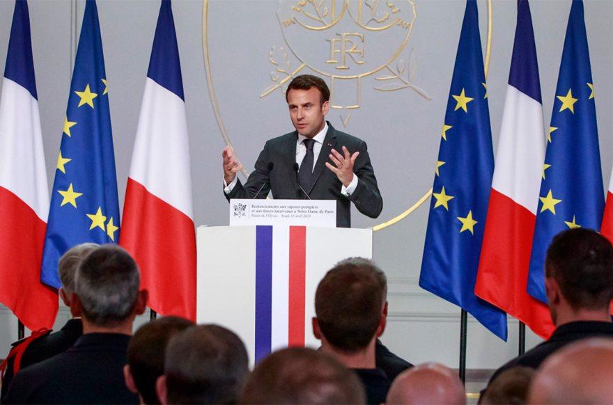法國總統馬克宏。 美聯社