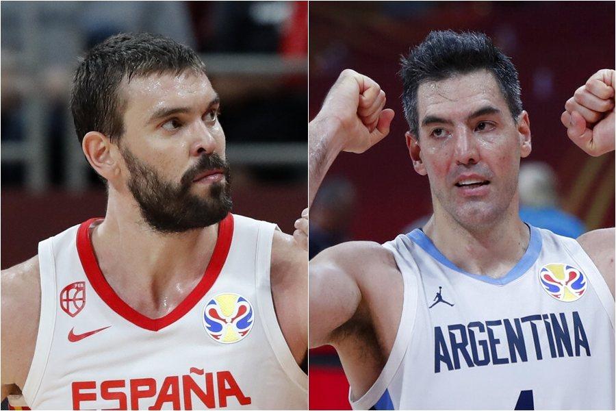對西班牙語阿根廷兩隊的精神領袖小加索(左)以及史柯拉(右)來說,這場世界盃冠軍戰...