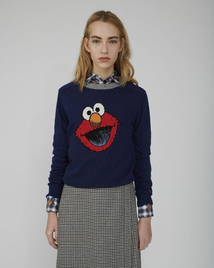 PAUL & JOE SISTER x 芝麻街,Elmo藍色毛衣,9,800元。...