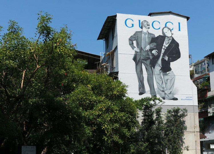 一年要換好幾個主題的Gucci藝術牆又變裝了,全球七大城市同步更新,台北的永康街...