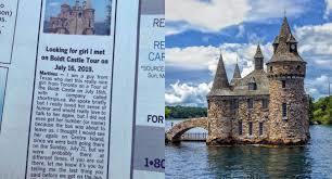 美國德州男子馬丁內斯上個月在加拿大報紙刊登廣告,尋找在多倫多度假時一見傾心的女子...