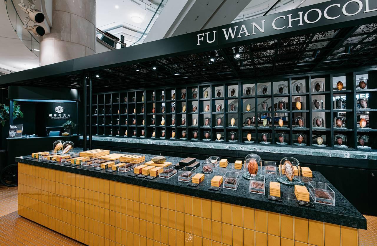 9/5開幕的福灣巧克力台北101直營門市,販售多款獨創且獲獎的巧克力。圖/福灣巧...