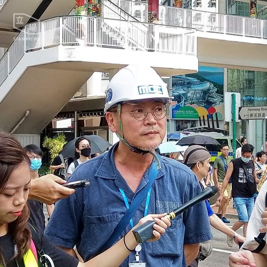 金義聖接受港媒採訪。圖/摘自推特