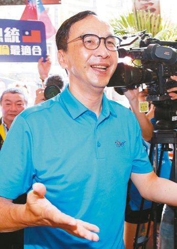 國民黨總統參選人韓國瑜昨天低調拜會前主席朱立倫,「韓朱會」氣氛融洽。 本報資料照...