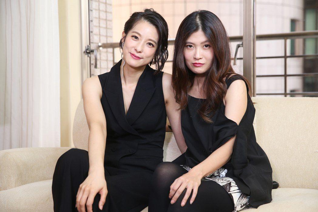 電影《花椒之味》導演麥曦茵(右)與演員賴雅妍(左)。記者徐兆玄/攝影