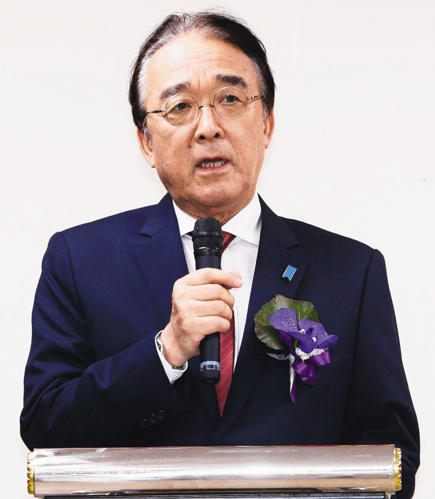 日本駐台代表沼田幹夫。 聯合報系資料照片
