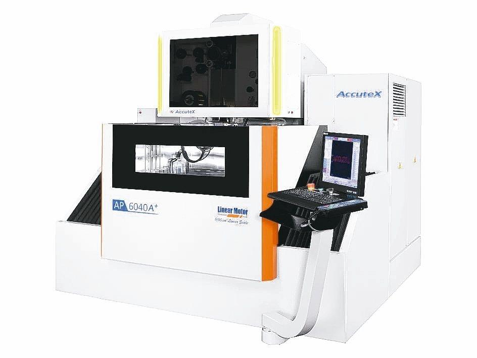 徠通AP-6040線馬線切割放電加工機。 徠通科技/提供