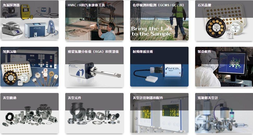 INFICON提供氦氣測漏儀、殘留氣體分析儀、光譜儀及真空計等,受到各產業設...